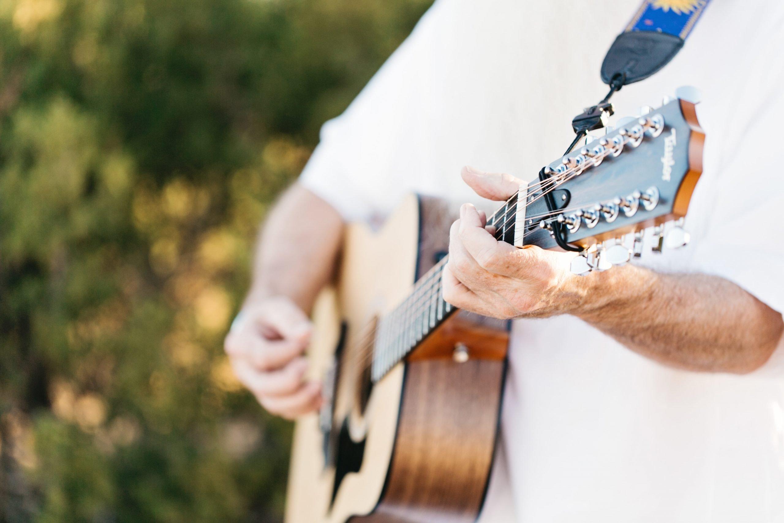 Livtar singh playing guitar